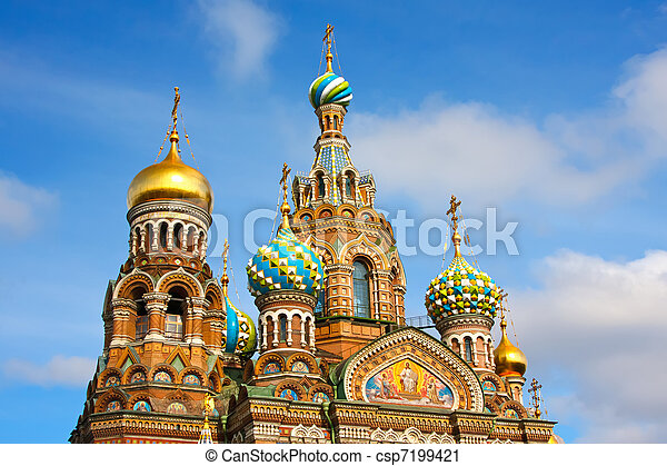 Church of the Savior on Spilled Blood, St. Petersburg, Russia - csp7199421