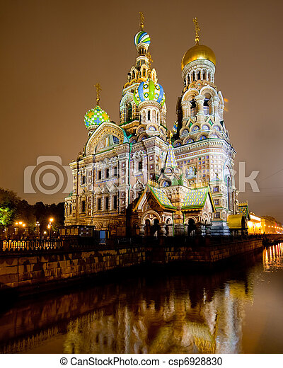 Church of the savior on spilled blood - csp6928830
