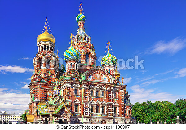 Church of the Saviour on Spilled Blood, St. Petersburg, Russia - csp11100397