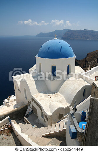 Church on Santorini - csp2244449