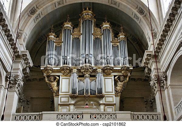 pipe organ interior image