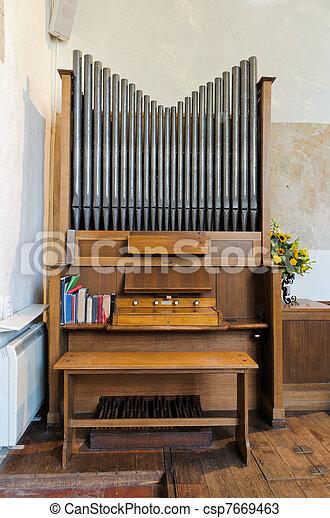 Church Organ - csp7669463