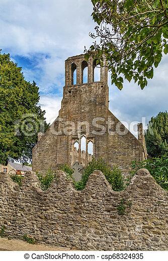 Church ruins at Malahide castle, Ireland - csp68324935