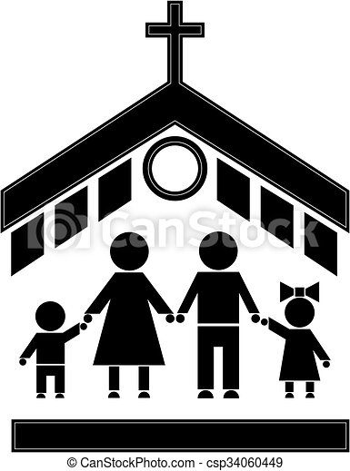 Church Stick Figure Figures Of People People Go To Church Family