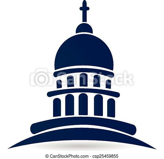 church temple capitol building logo church temple capitol rh canstockphoto com sg capitol building vector art capitol records building vector