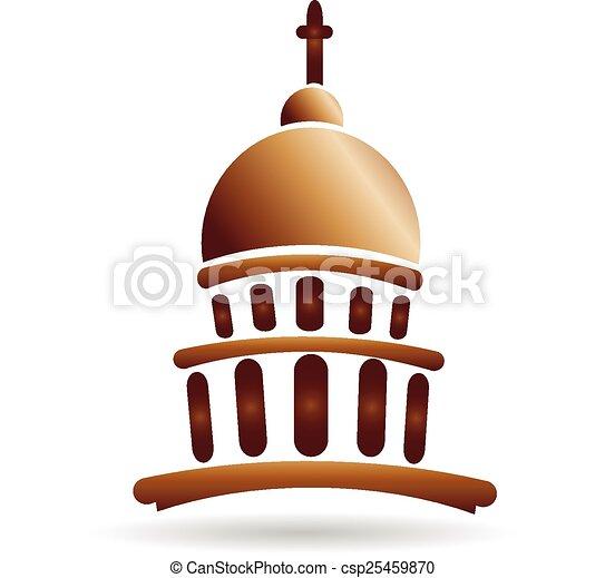 church temple capitol building logo church temple capitol rh canstockphoto ie austin capitol building vector capitol building vector free
