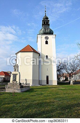 church, village Havran?ky, Czech Re - csp36363311