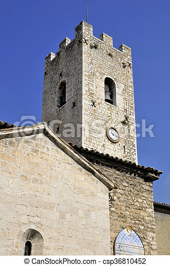Church village of Vence in France - csp36810452