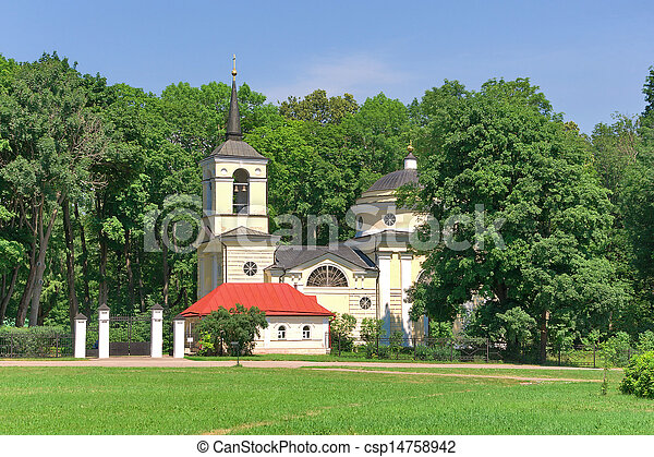 Church. Village Spassky-lutovinovo. - csp14758942