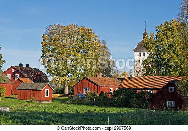 Church village - csp12997569
