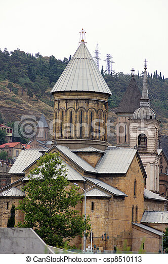 Churches and domes of Tbilisi - csp8510113
