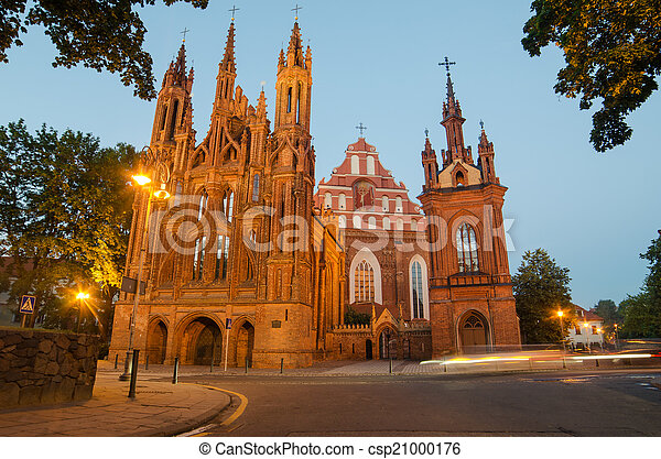 Churches in Vilnius, Lithuania - csp21000176