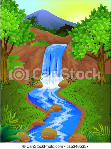 chute eau - csp3465357