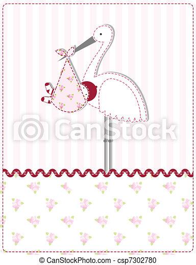 chuva bebê, cartão - csp7302780