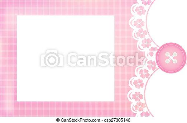 Chuva Bebê Menina Cartão Cor De Rosa Informação Aproximadamente