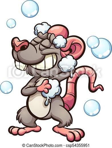 chuveiro, rato - csp54355951