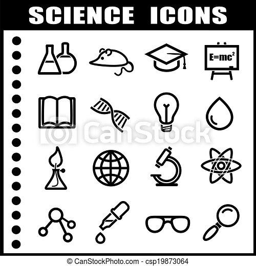 ciência, ícones - csp19873064