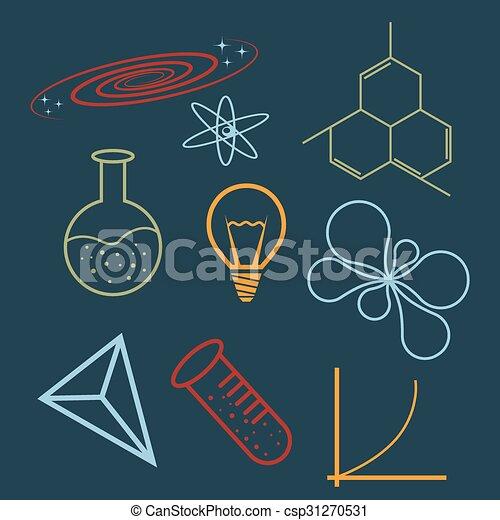 ciência, ícones - csp31270531
