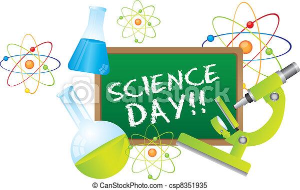 ciência, dia - csp8351935