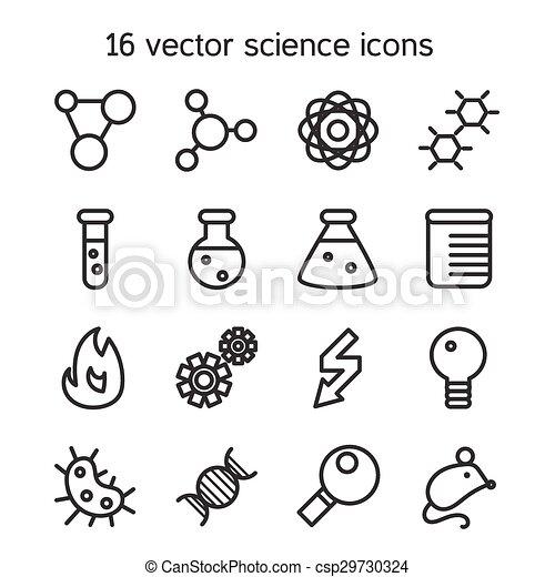 ciência, jogo, ícones - csp29730324