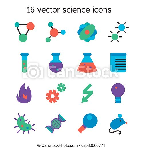 ciência, jogo, ícones - csp30066771