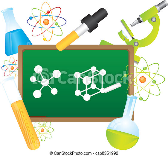 ciência, vetorial - csp8351992