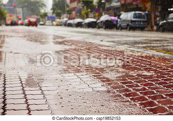 ciężki deszcz - csp19852153