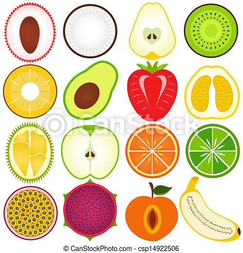 cięty, pół, owoc, świeży - csp14922506