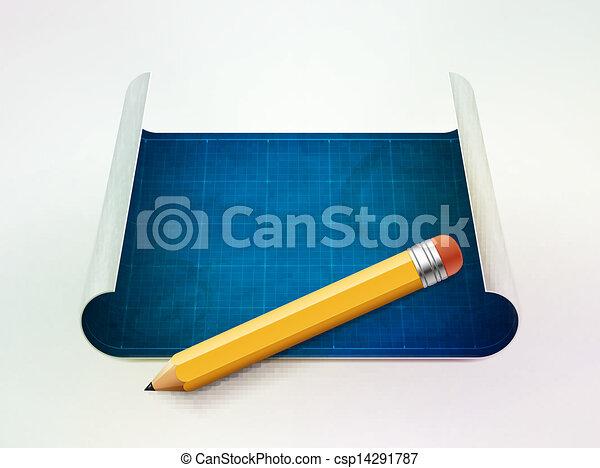 Ilustración de vectores y planos - csp14291787