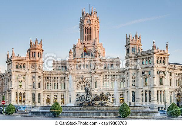 Cibeles Fountain at Madrid, Spain - csp19363763