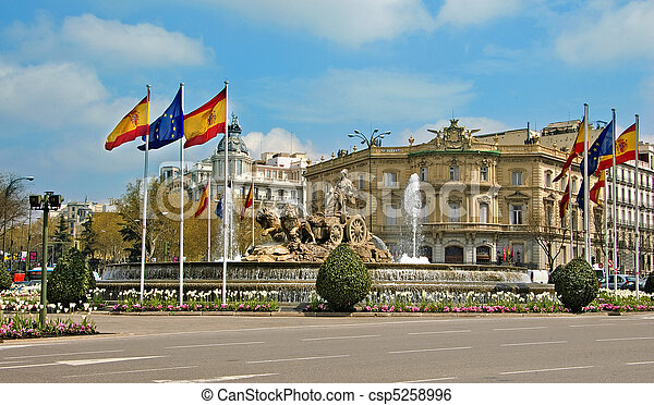 Cibeles Fountain, Madrid, Spain - csp5258996