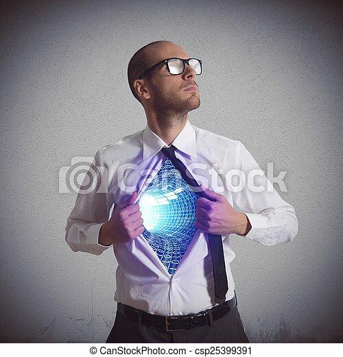 Héroe del ciberespacio - csp25399391
