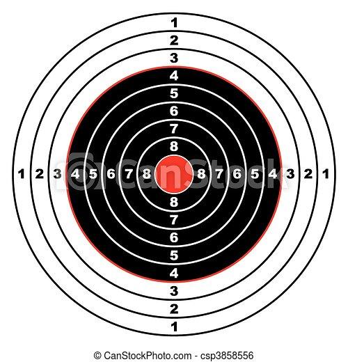 cible, fusil - csp3858556