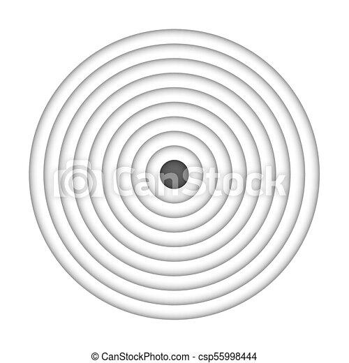 cible, isolé, arrière-plan., vecteur, noir, blanc - csp55998444