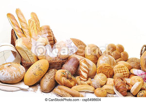 cibo, fresco, gruppo, bread - csp5498604