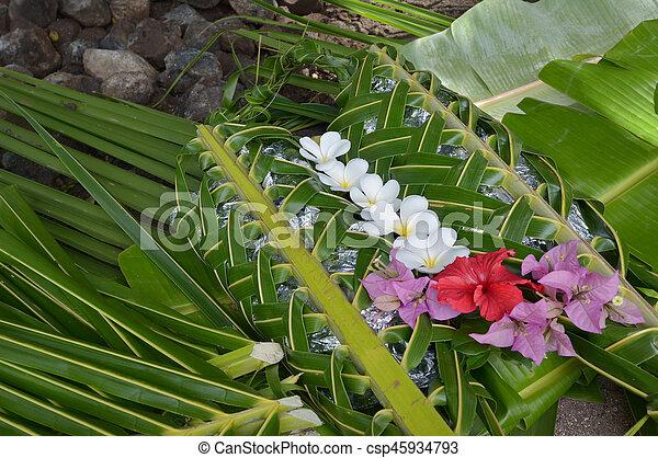 cibo, isole, fijian, figi, lovo - csp45934793