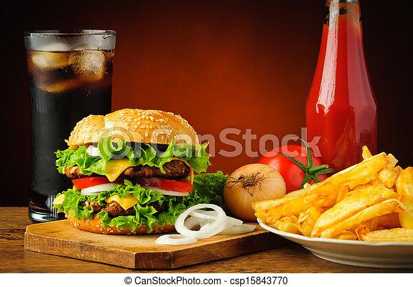 cibo, menu, digiuno - csp15843770