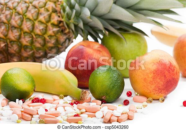 cibo, multi, frutta, vitamina - csp5043260