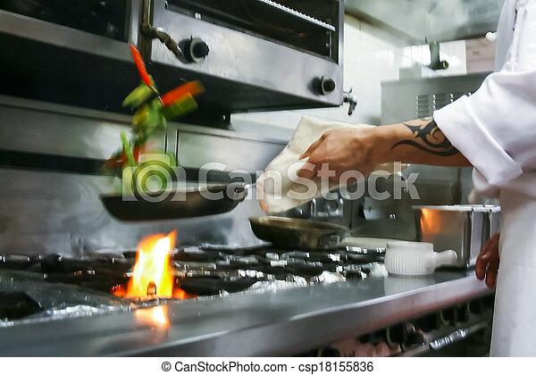 cibo, preparare, ristorante - csp18155836