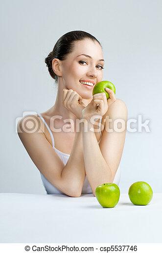 cibo sano, mangiare - csp5537746