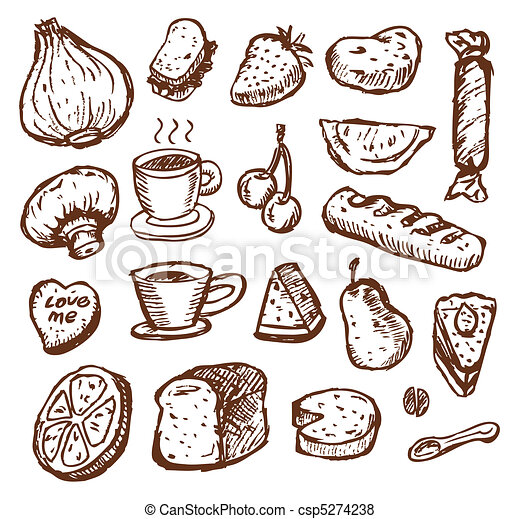 cibo, schizzo - csp5274238