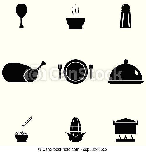 cibo, set, cinese, icona - csp53248552