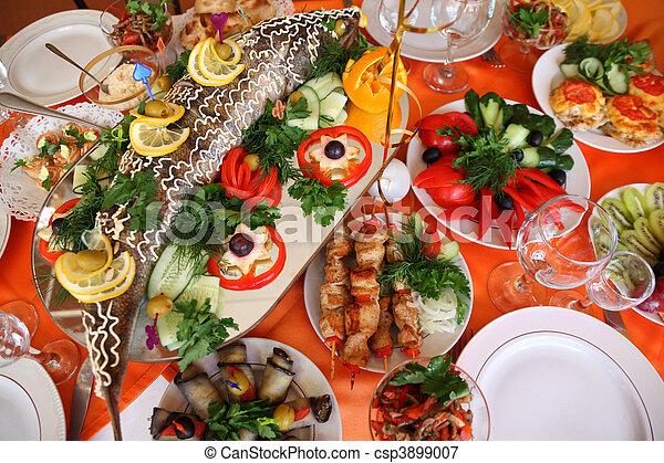 cibo, tavola, vacanza - csp3899007