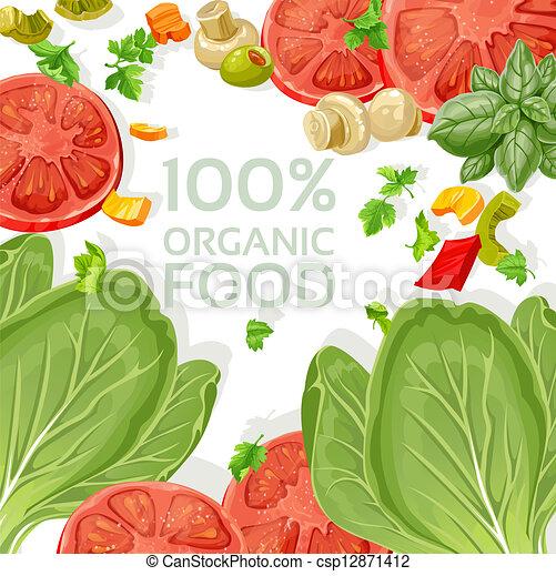cibo, vegetariano, organico, fondo - csp12871412