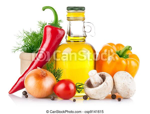 cibo, verdura, set, cottura spezia - csp9141615