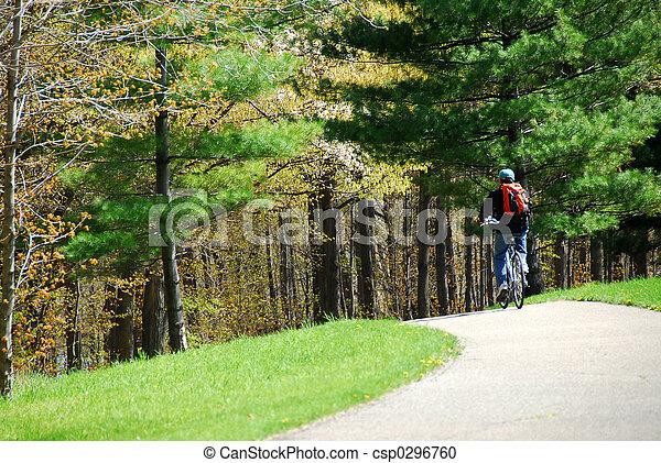 ciclismo, parque - csp0296760
