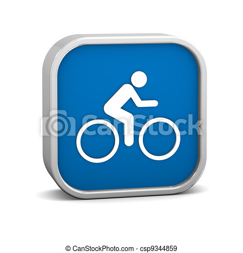 Signo de ciclismo - csp9344859