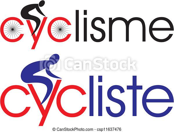 Ciclismo, ciclista en francés - csp11637476
