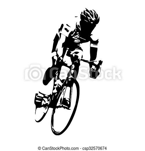 ciclista ciclismo vector estrada