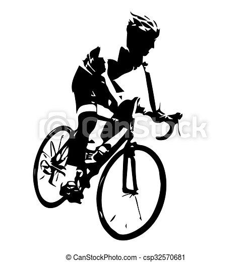 Popolare Ciclista, corsa bicicletta, silhouette. vettore - Cerca Clip Art  VK96